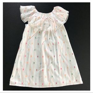 S 6-7Y embroidered confetti dress